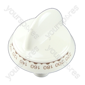 Indesit White Top Oven Cooker Control Knob
