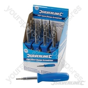 4-in-1 Quick Change Screwdriver Display Box 12pce - 12pce