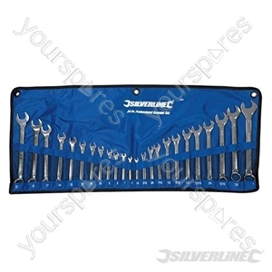 Combination Spanner Set 24pce - 6 - 22mm & 1/4 - 1""