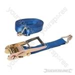 Ratchet Tie Down Strap J-Hook 8m x 50mm - Rated 1700kg Capacity 4750kg